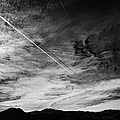 Aircraft Contrail With Shadow On Lower Cloud Nevada Usa by Joe Fox