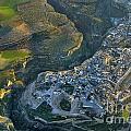 Alhama De Granada From The Air by Guido Montanes Castillo