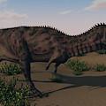Alluring Majungasaurus In Swamp by Kostyantyn Ivanyshen
