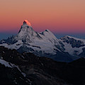Alpenglow On The Matterhorn And Dent by Menno Boermans