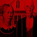 American Gothic In Red by Rob Hans
