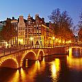 Amsterdam - Old Houses At The Keizersgracht In The Evening by Olaf Schulz