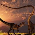 An Allosaurus In A Deadly Battle by Mark Stevenson