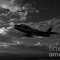 An F-86f Sabre In Flight Near Glendale by Scott Germain
