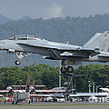 An Fa-18 Super Hornet Of The U.s. Navy by Remo Guidi