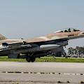 An Israeli Air Force F-16c by Timm Ziegenthaler