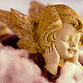 Angel Resting On Clouds And Enjoying The Sun by U Schade