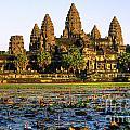 Angkor Wat At Sunset - Cambodia by Luciano Mortula