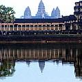 Angkor Wat Reflection by Laurel Talabere