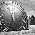 Antique Clocks In The Desert Sand by Allan Swart