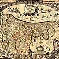 Antique Map Of Holland 1630 by Mountain Dreams