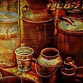 Antique Milk Cans by Sherman Perry