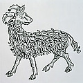 Aries An Illustration From The Poeticon by Italian School