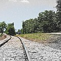 Railroad - Tracks - Landscape - Around The Bend by Barry Jones