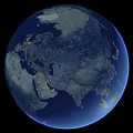 Asia At Night by Planetary Visions Ltd/science Photo Library