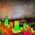 Atlanta Skyline Watercolor by Marvin Blaine
