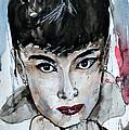 Audrey Hepburn - Abstract Art by Ismeta Gruenwald