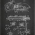 Automatic Motorcycle Stand Retractor Patent Drawing From 1940 by Aged Pixel