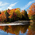 Autumn At The Lock And Dam by David Patterson