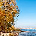 Autumn On The Dnieper River by Alain De Maximy