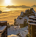 Avoriaz At Sunset by Dylan H Brown