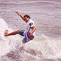 Surfing Balancing Act  by Ola Allen