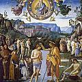 Baptism Of Christ by Pietro Perugino