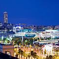Barcelona And Its Skyline At Night by Michal Bednarek