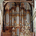 Baroque Grand Organ In Oude Kerk In Amsterdam by Artur Bogacki