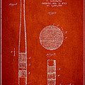 Baseball Bat Patent Drawing From 1923 by Aged Pixel
