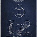 Baseball Cover Patent Drawing From 1924 by Aged Pixel
