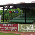 Baseball Field Burma Shave Sign by Frank Romeo