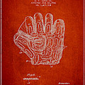 Baseball Glove Patent Drawing From 1924 by Aged Pixel