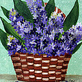 Basket Of Hyacinths  by Barbara Griffin