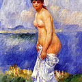 Bather by Pierre-Auguste Renoir