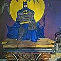 Batman On The Roof Top by Brenda Brown