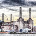 Battersea Power Station London Snow by David Pyatt