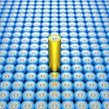Battery Array And Single Supercapacitor. by David Parker/science Photo Library