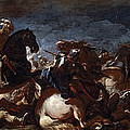 Battle Of Saint-quentin by Luca Giordano