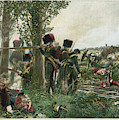 Battle Of Waterloo Troops Of The Nassau by Mary Evans Picture Library