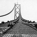 Bay Bridge Under Construction by Ray Hassman