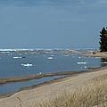 Beach And Ice by Linda Kerkau