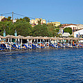 Beach In Aegina Town by George Atsametakis