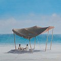 Beach Tent, 2012 Acrylic On Canvas by Lincoln Seligman