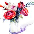 Beautiful Roses Flowers by Regina Jershova