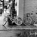 Bicycles Parked Along The Main Street In Saint Michaels Maryland. by William Kuta