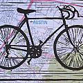 Bike 8 On Map by William Cauthern