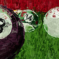 Billiards Abstract by David G Paul