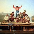 Bingham's The Jolly Flatboatmen by Cora Wandel