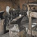 Black Smith Shop In Fort Edmonton by Randall Nyhof